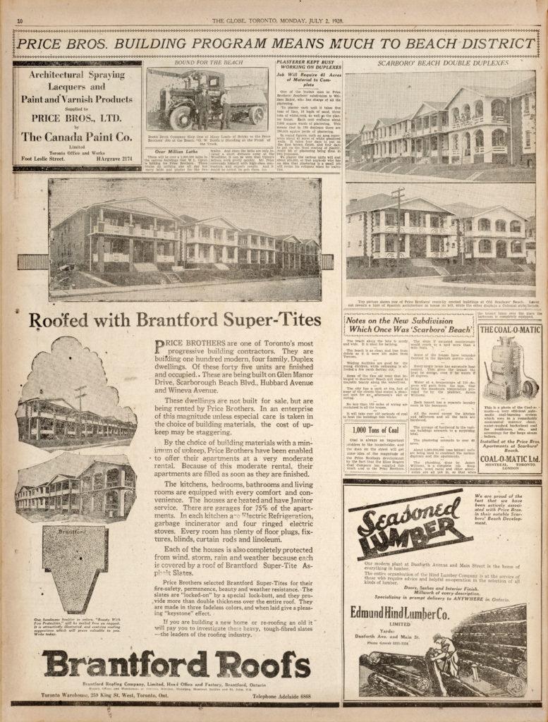 Toronto Globe July 2, 1928, page 10