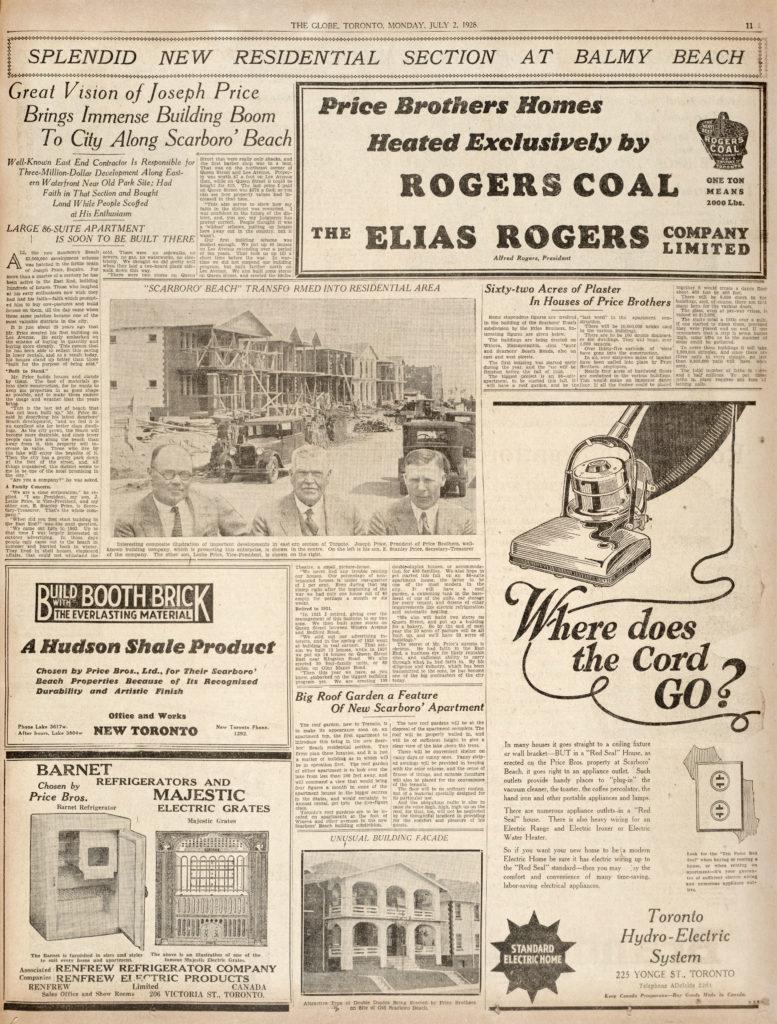 Toronto Globe, July 2, 1928, page 11
