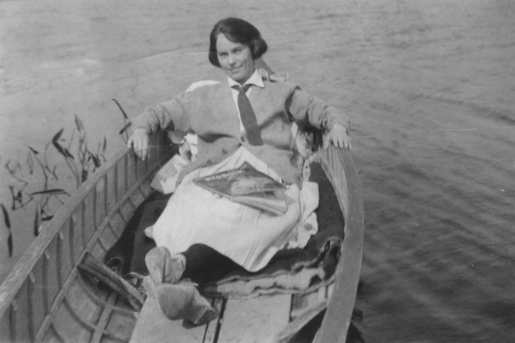 Helen Price in a Boat