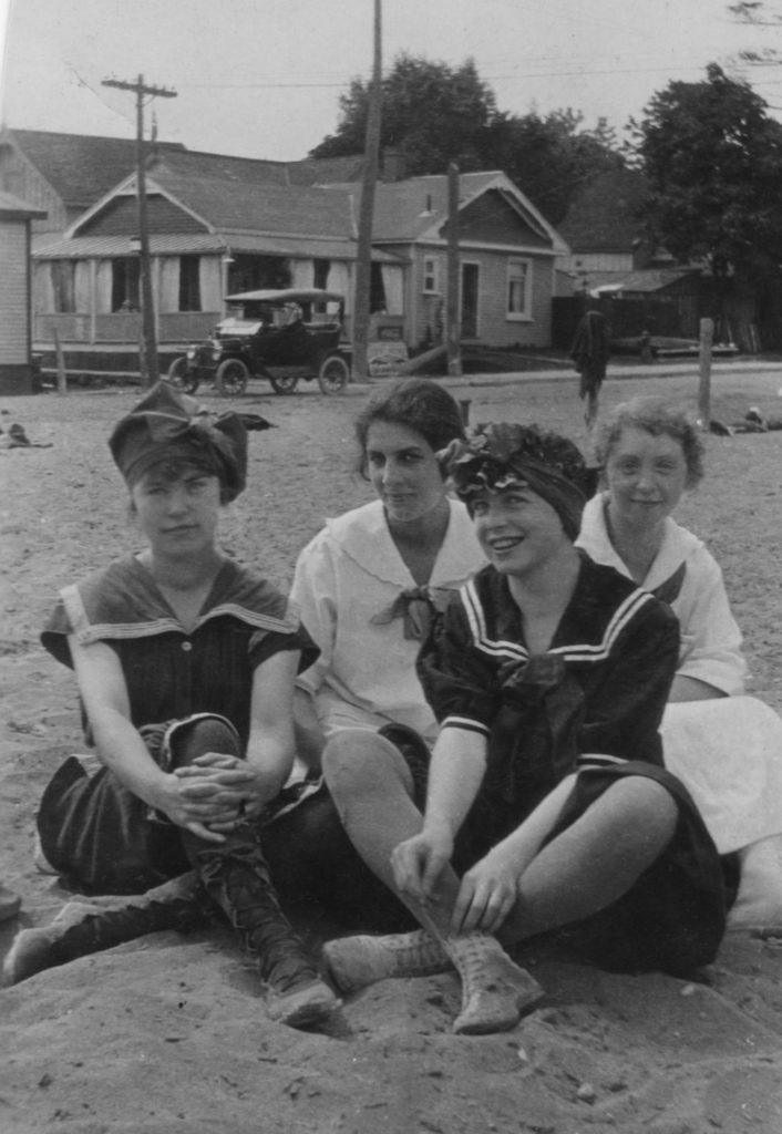 Helen Price on the Beach with Friends