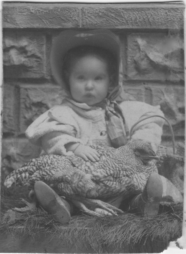 Helen Fredrica Price with Easter Chicken 1899