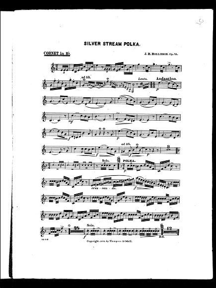 Sheet Music Page: Silver Stream Polka