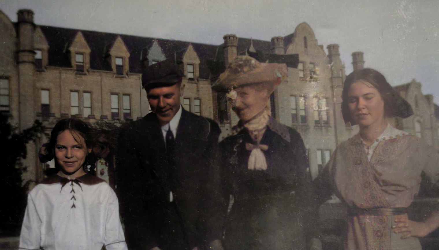 Frances, Earl, Lizzie, and Helen Price at Ontario Ladies' College