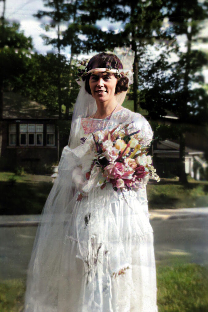 Helen Price Wedding Photo (colourized)